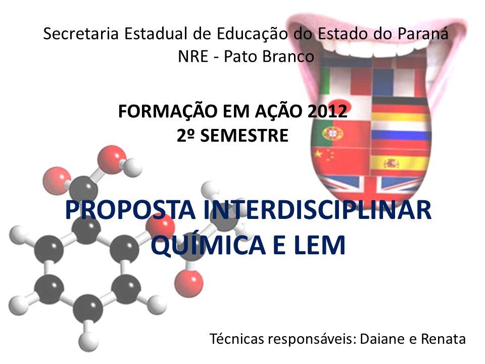 FORMAÇÃO EM AÇÃO 2012 2º SEMESTRE