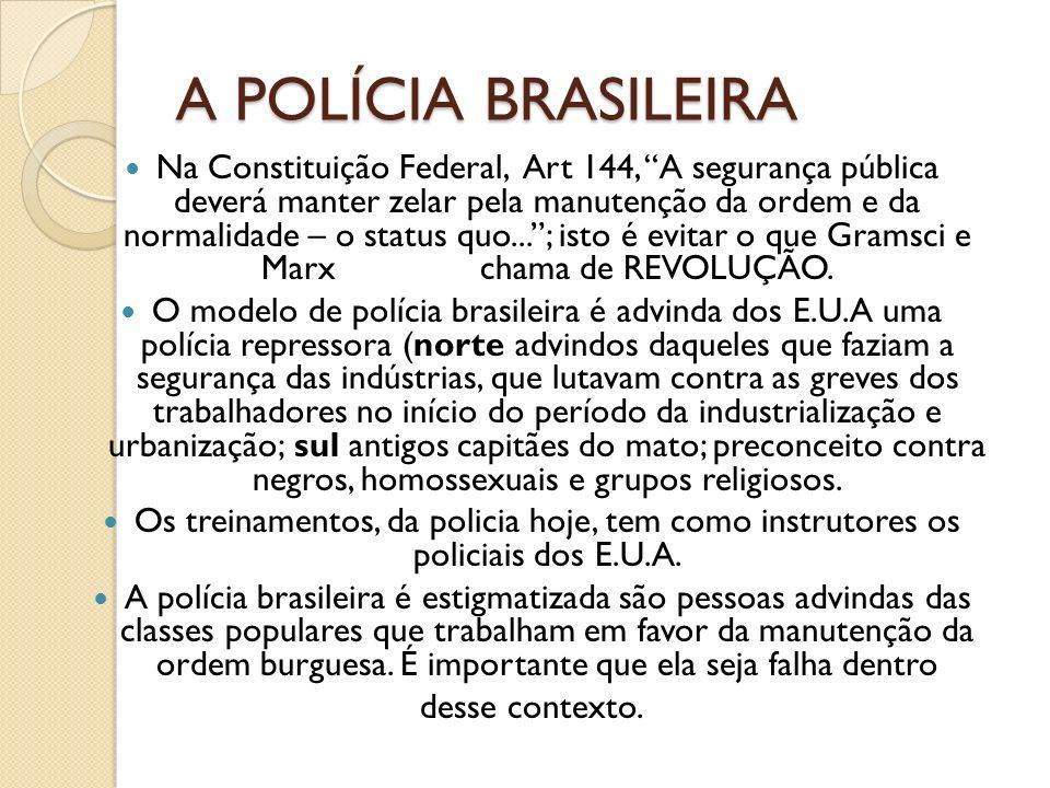 A POLÍCIA BRASILEIRA