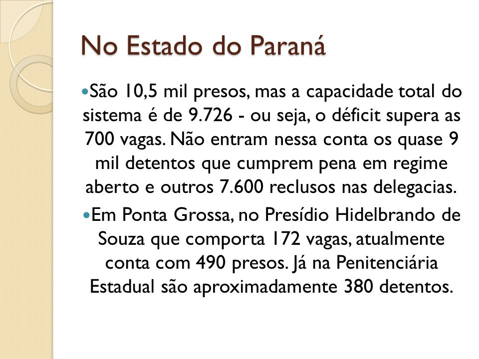 No Estado do Paraná