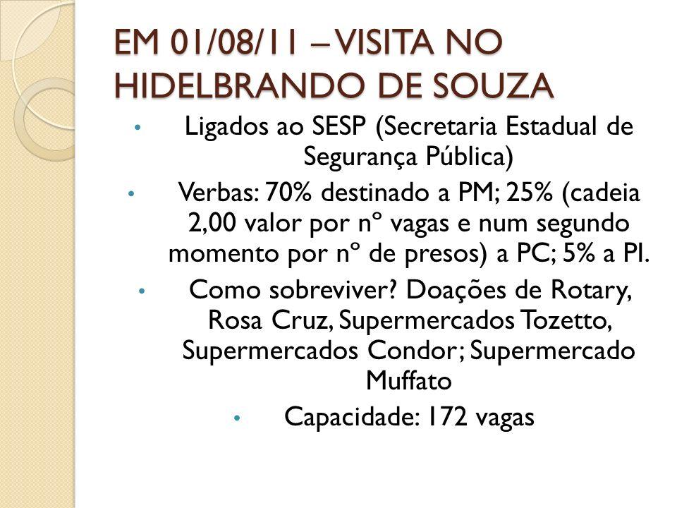 EM 01/08/11 – VISITA NO HIDELBRANDO DE SOUZA