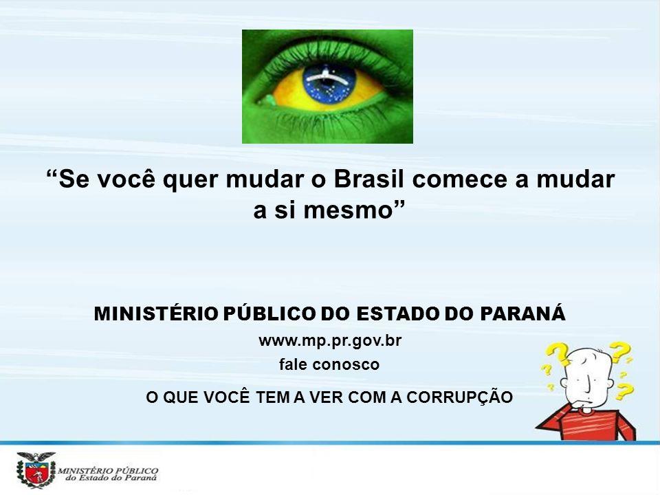 Se você quer mudar o Brasil comece a mudar a si mesmo