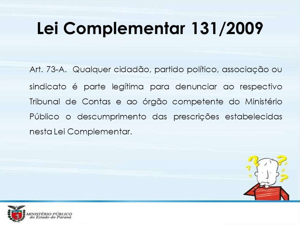 Lei Complementar 131/2009