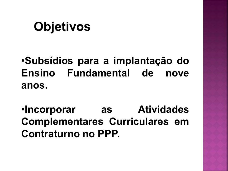 Objetivos Subsídios para a implantação do Ensino Fundamental de nove anos.