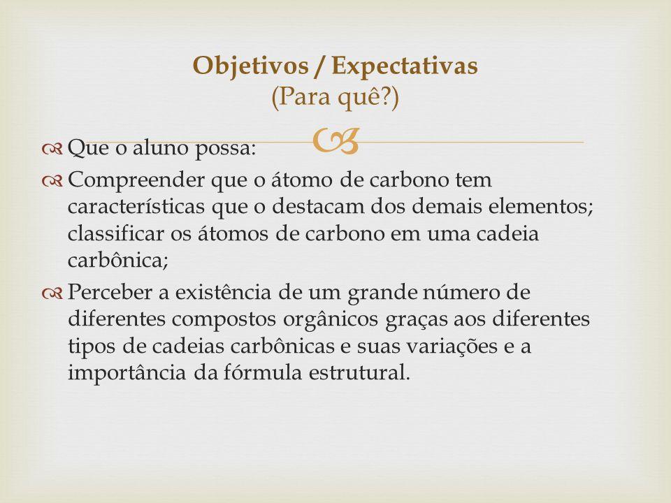 Objetivos / Expectativas (Para quê )