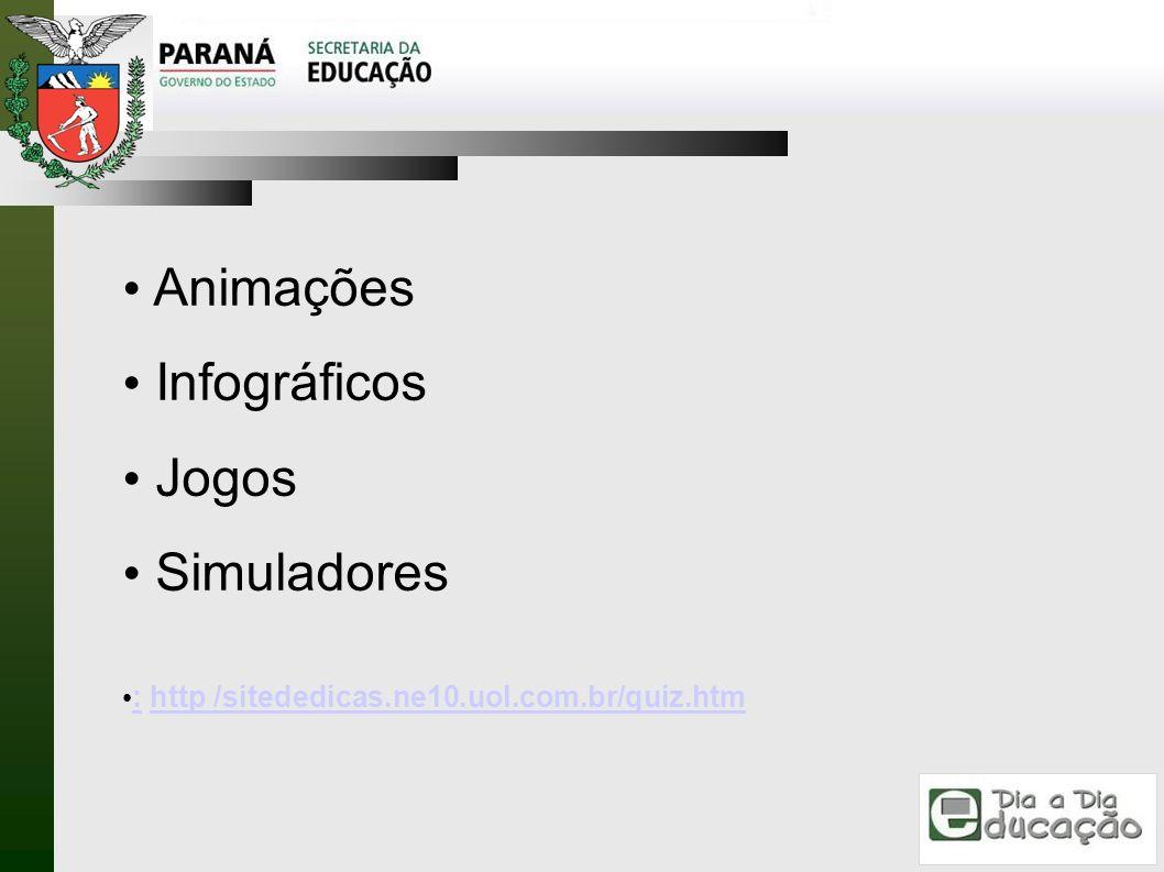 Animações Infográficos Jogos Simuladores