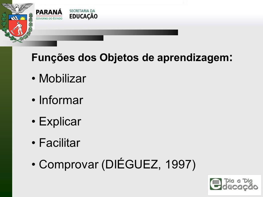 Mobilizar Informar Explicar Facilitar Comprovar (DIÉGUEZ, 1997)
