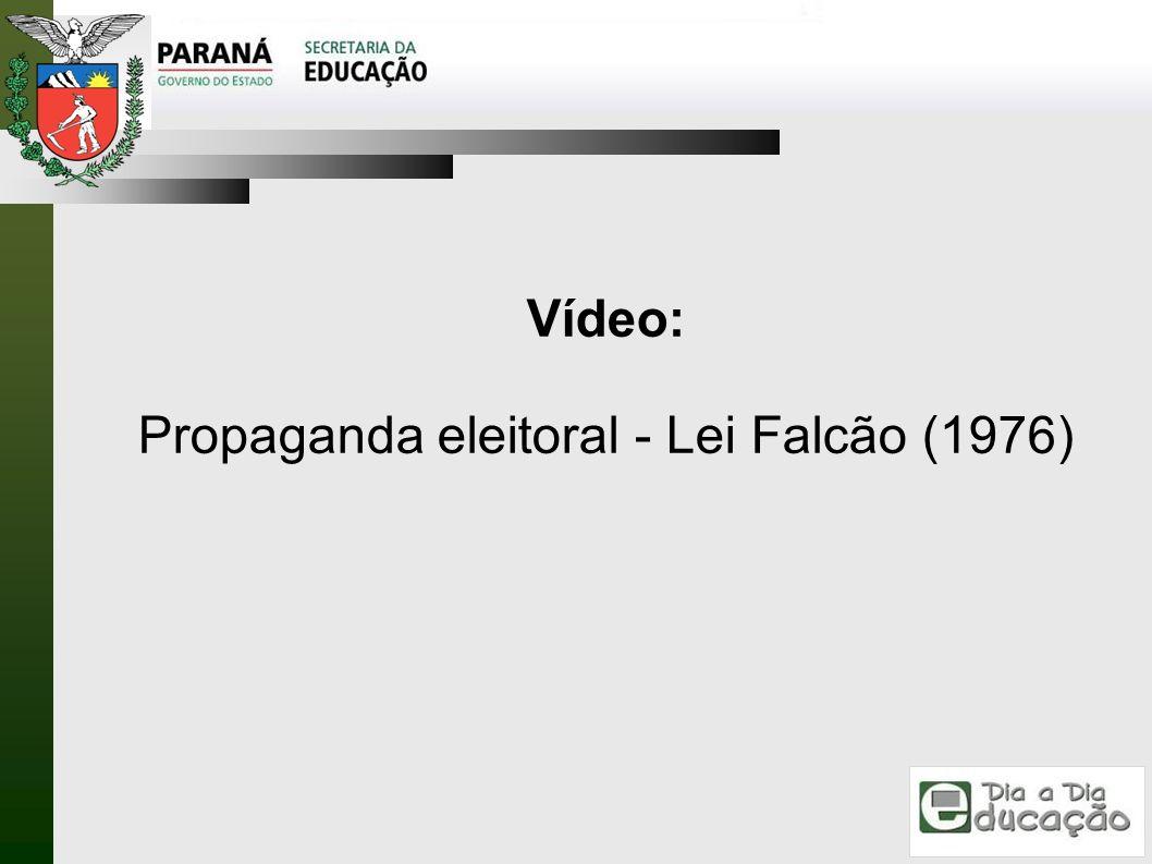 Propaganda eleitoral - Lei Falcão (1976)