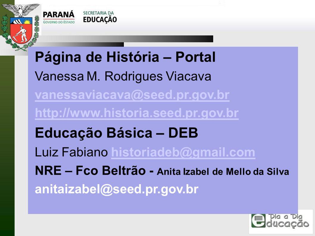 Página de História – Portal