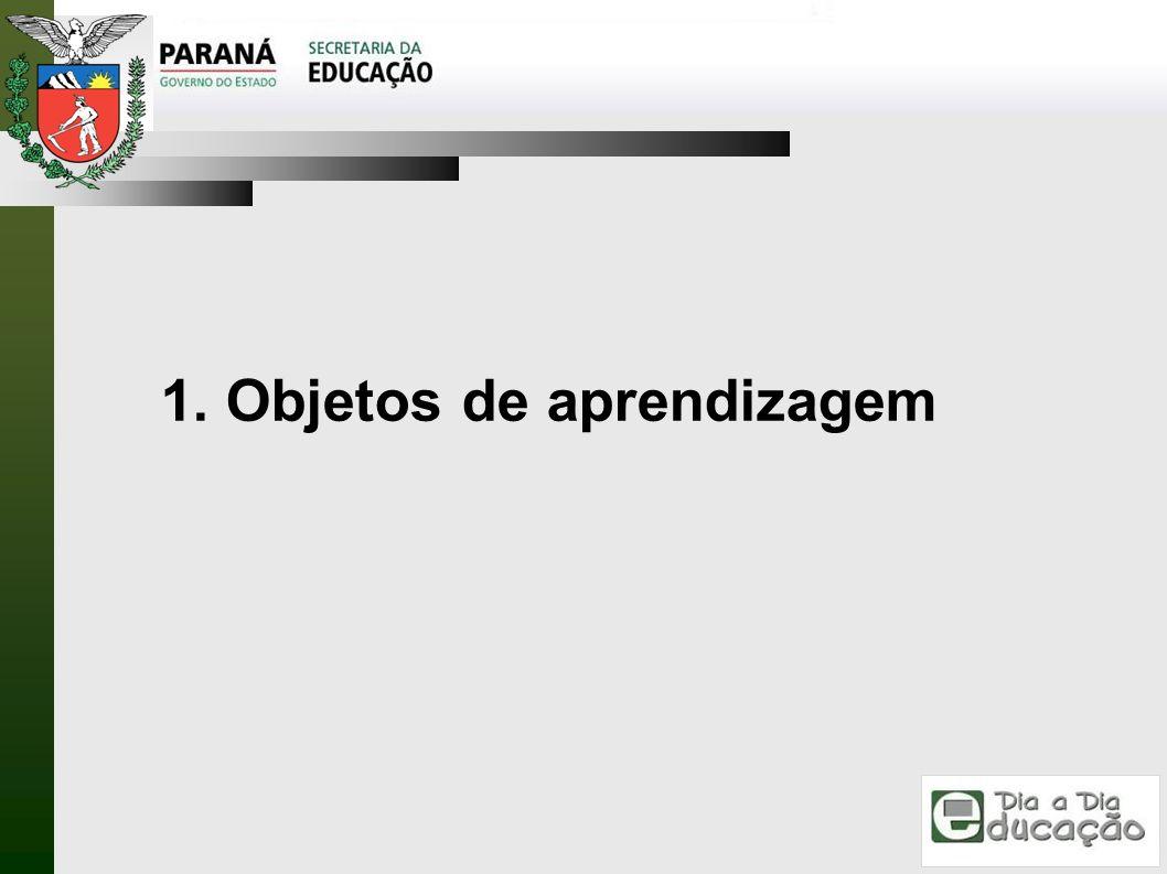 1. Objetos de aprendizagem
