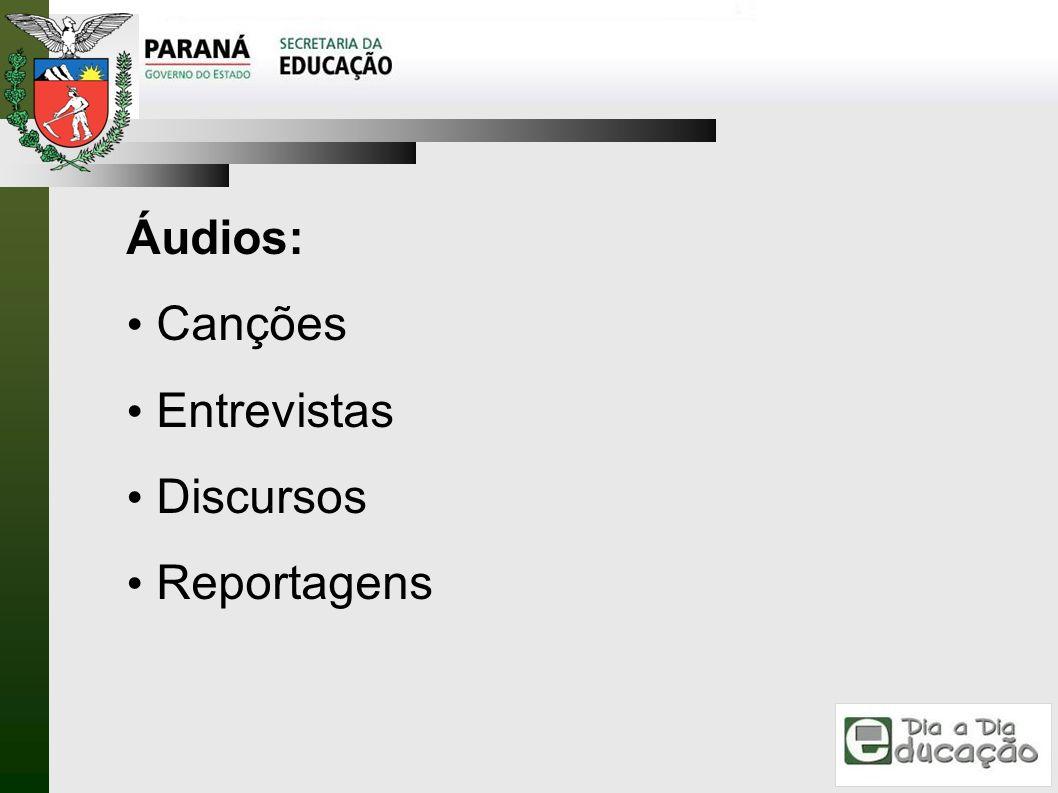 Áudios: Canções Entrevistas Discursos Reportagens 8