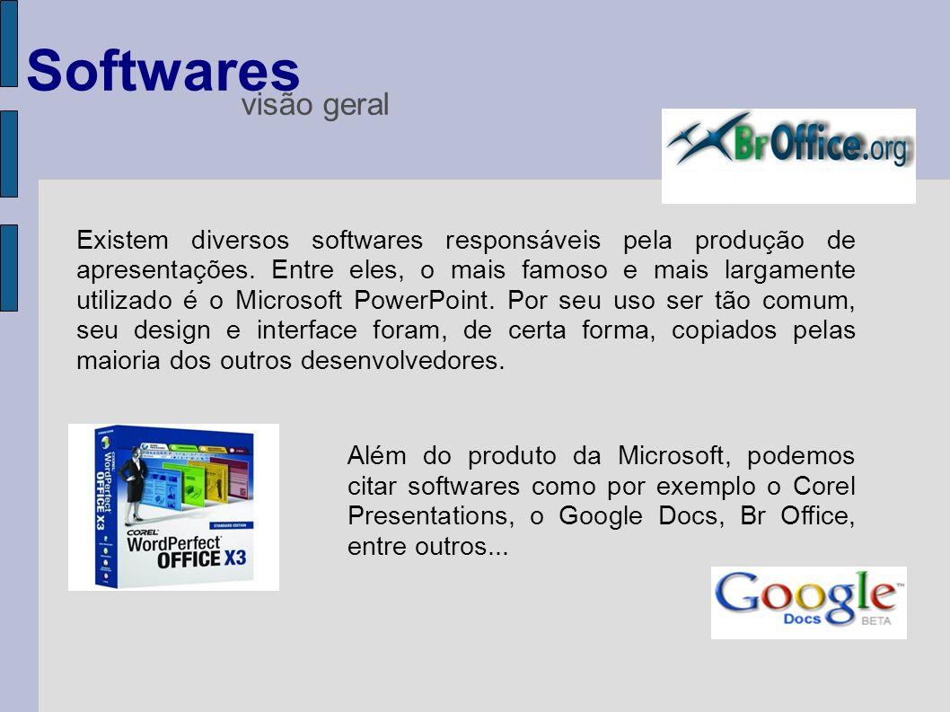 Softwares visão geral.