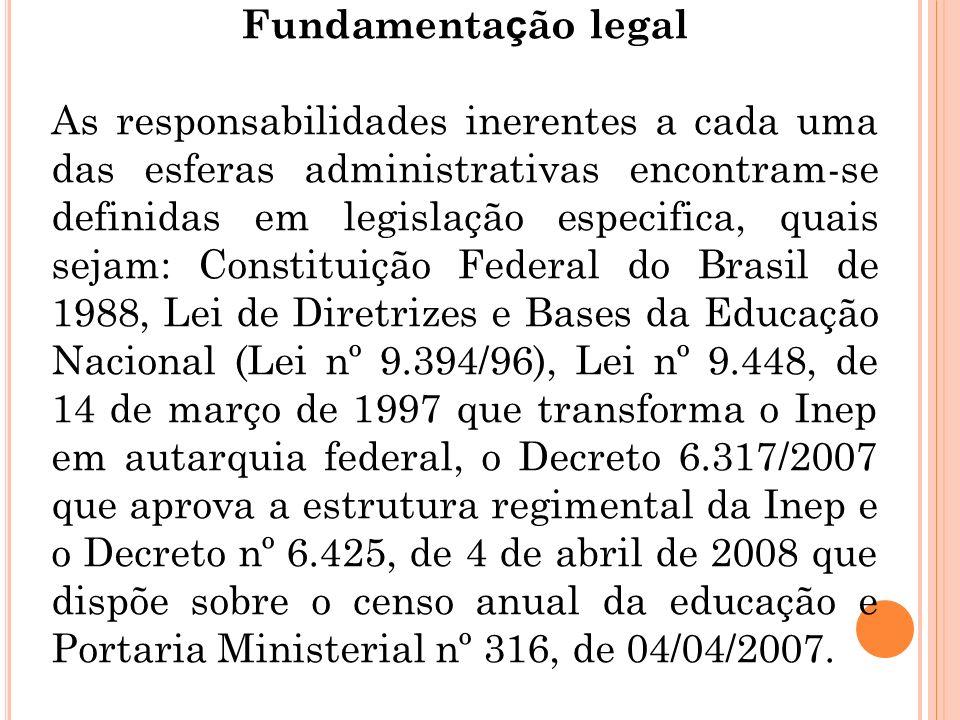 Fundamentação legal