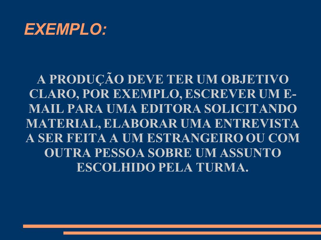 EXEMPLO: