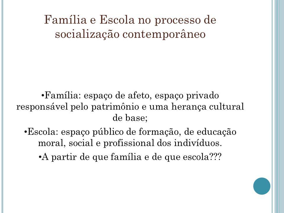 Família e Escola no processo de socialização contemporâneo