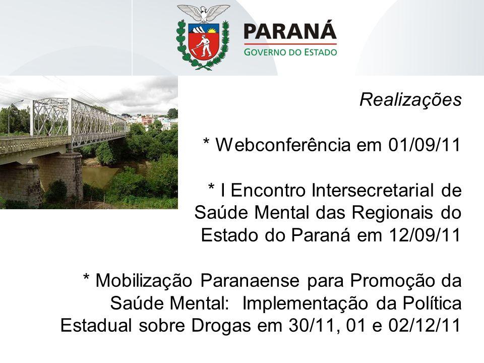 Realizações. Webconferência em 01/09/11