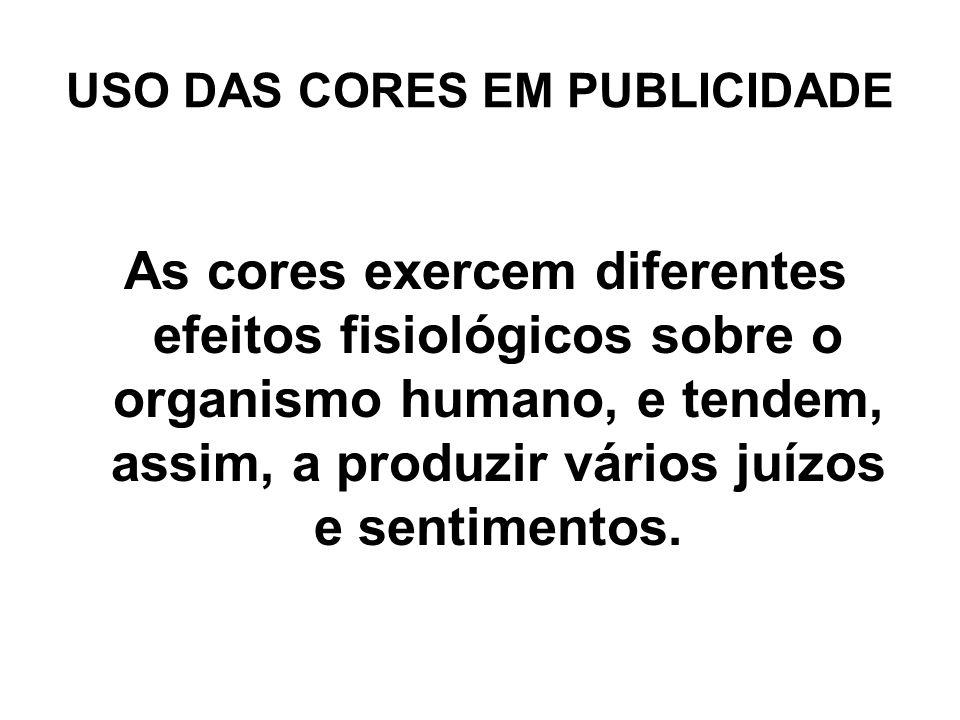 USO DAS CORES EM PUBLICIDADE