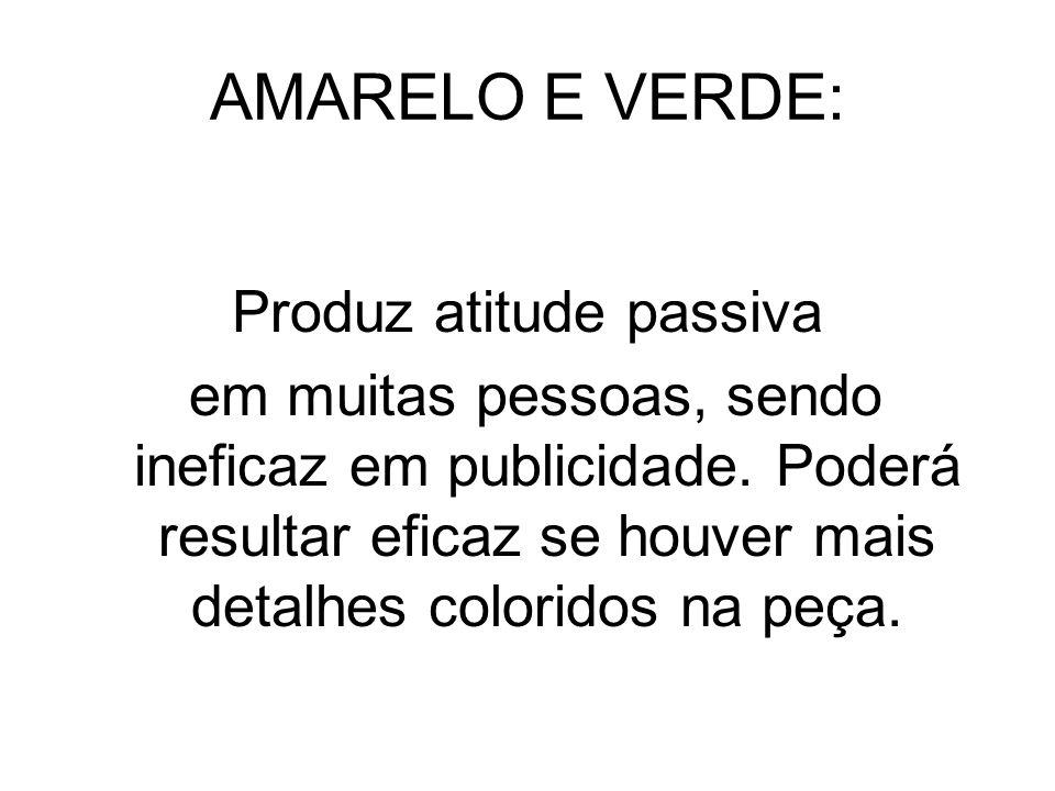 AMARELO E VERDE: