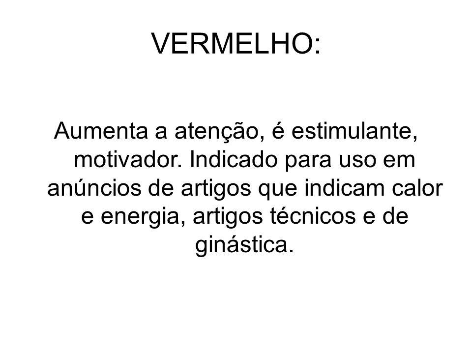 VERMELHO: