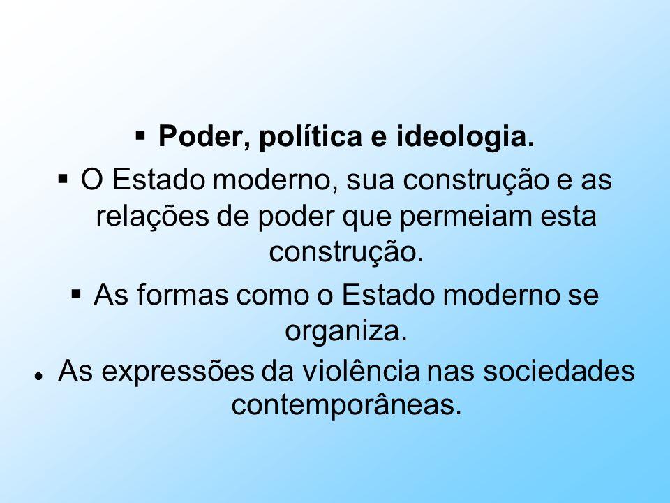 Poder, política e ideologia.