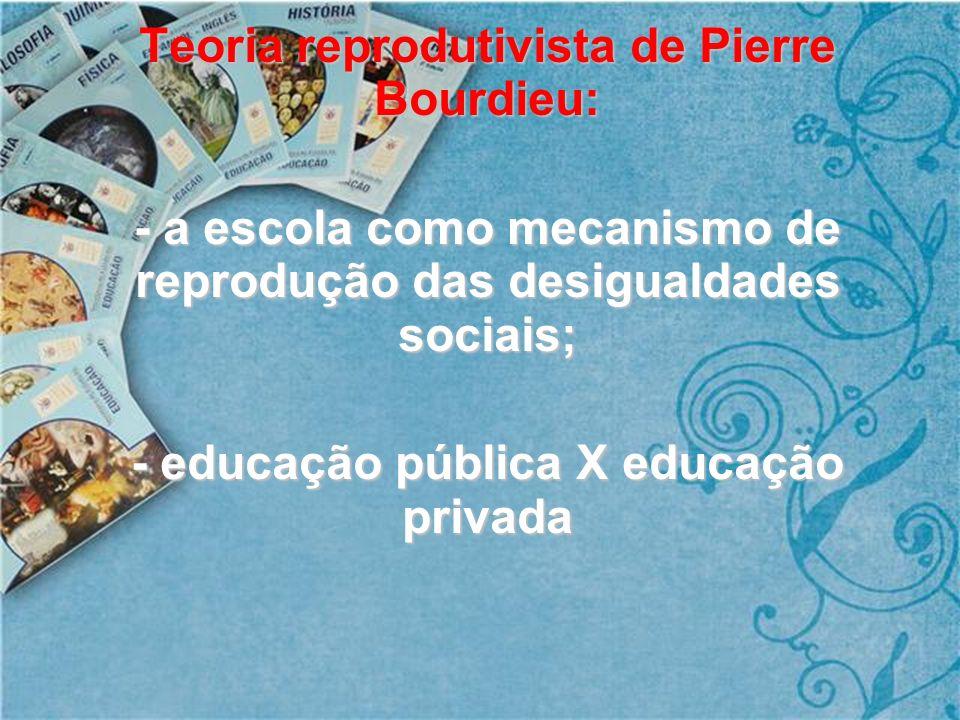 Teoria reprodutivista de Pierre Bourdieu: