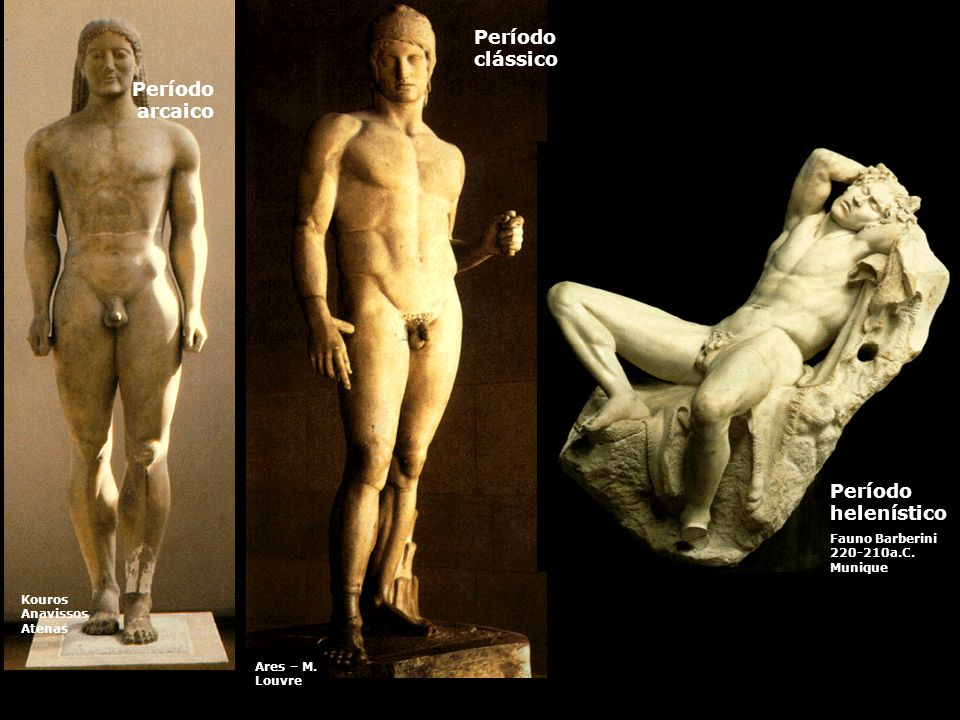 Período clássico Período arcaico Período helenístico