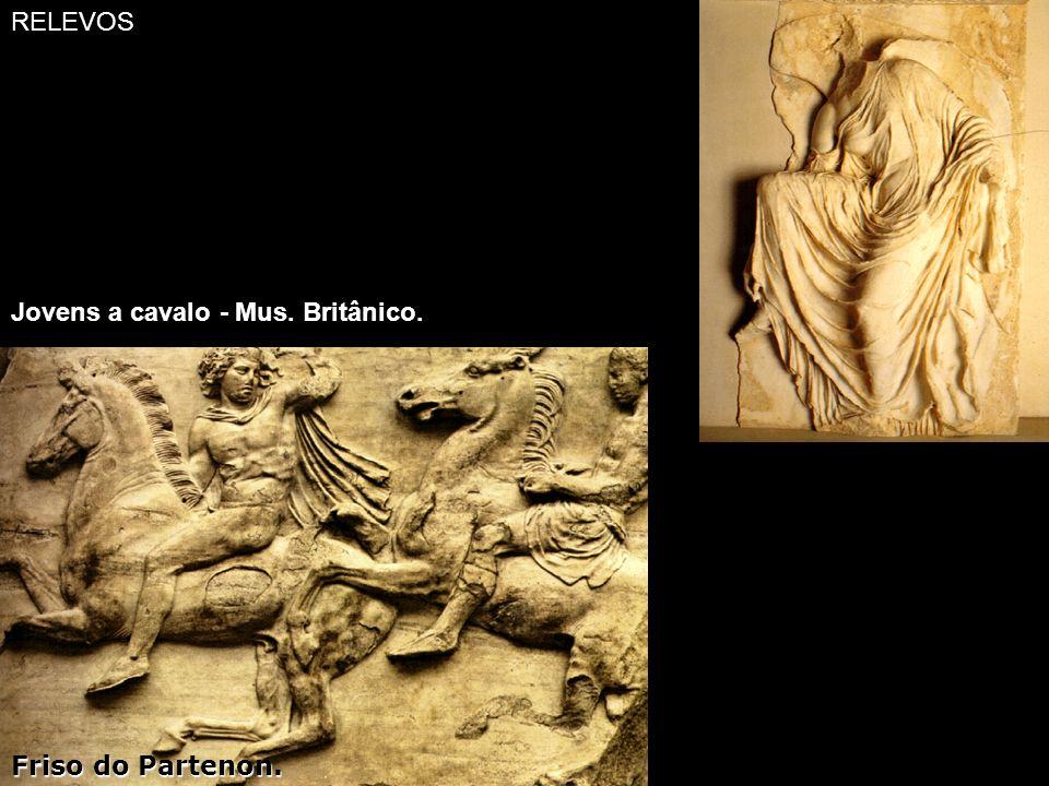 RELEVOS Jovens a cavalo - Mus. Britânico. Friso do Partenon.