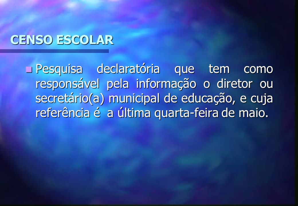 CENSO ESCOLAR