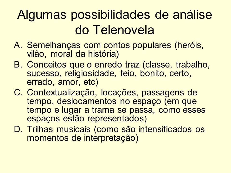 Algumas possibilidades de análise do Telenovela