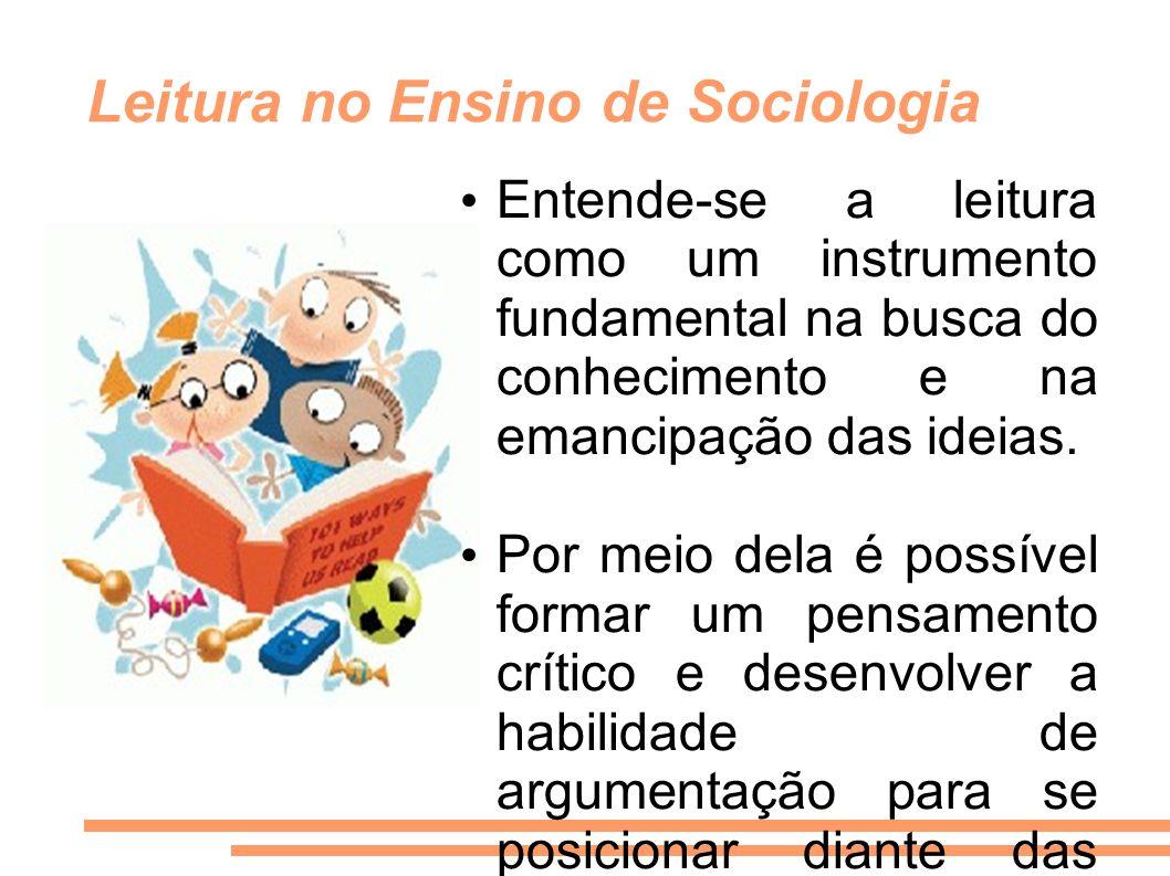 Leitura no Ensino de Sociologia