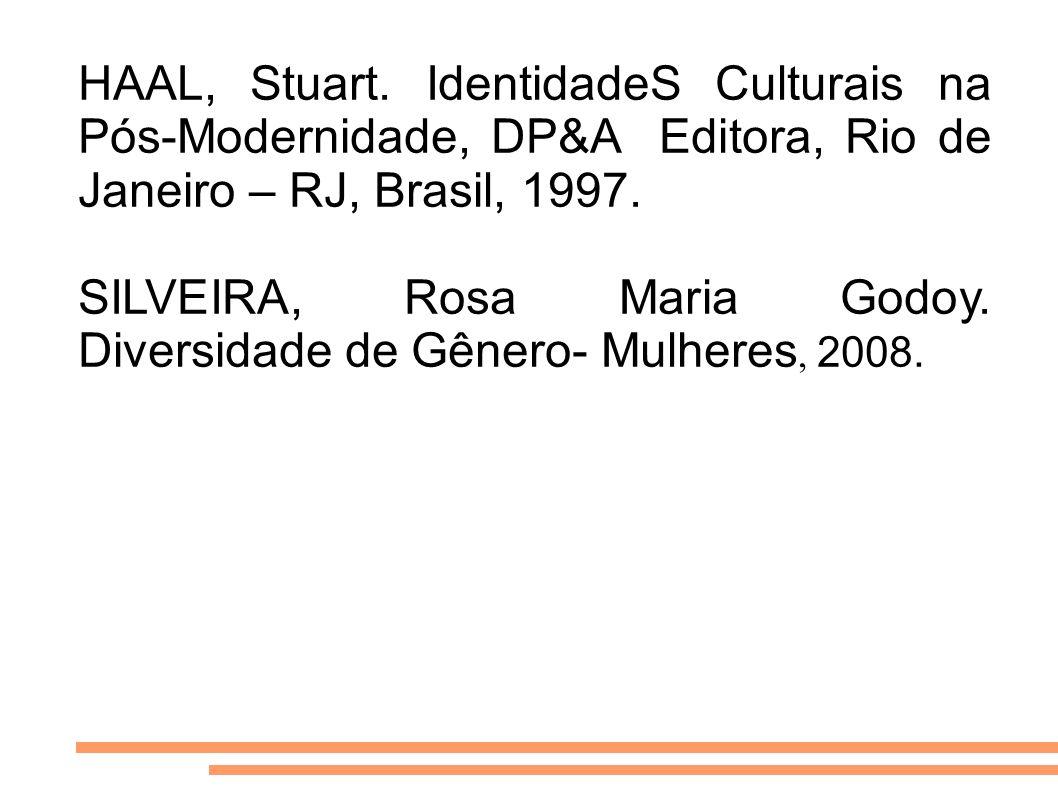 HAAL, Stuart. IdentidadeS Culturais na Pós-Modernidade, DP&A Editora, Rio de Janeiro – RJ, Brasil, 1997.