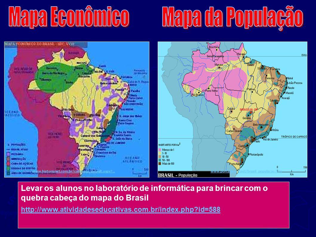 Mapa Econômico Mapa da População