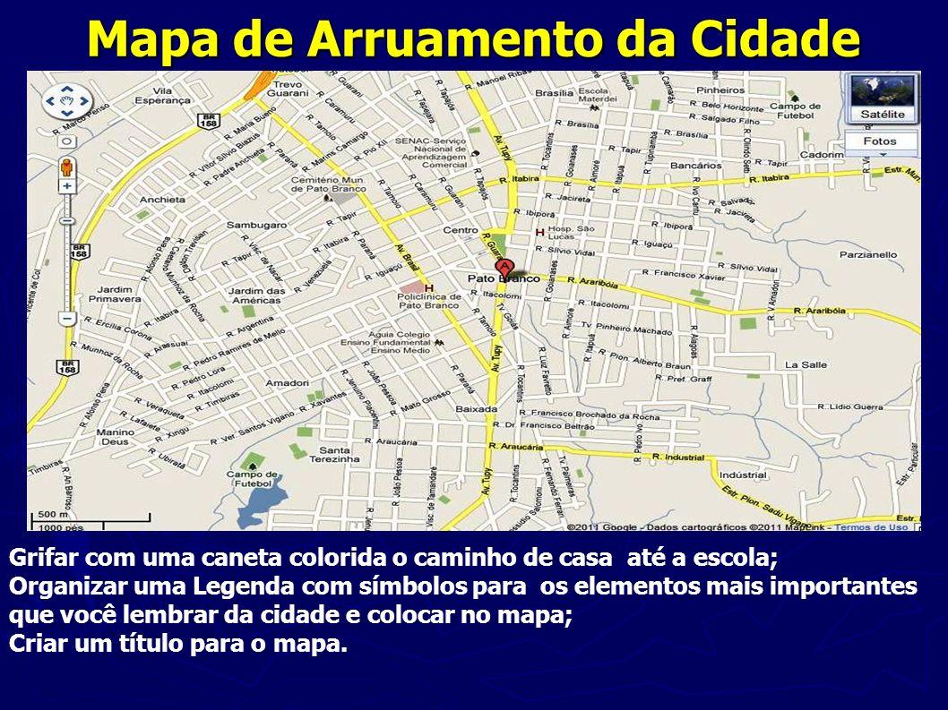 Mapa de Arruamento da Cidade
