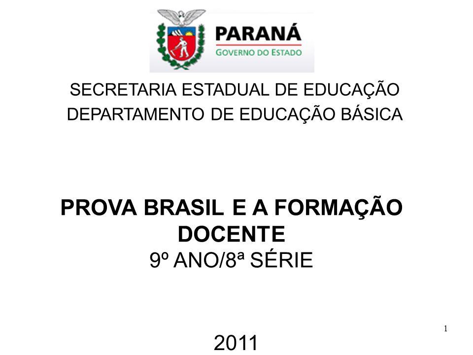 PROVA BRASIL E A FORMAÇÃO DOCENTE
