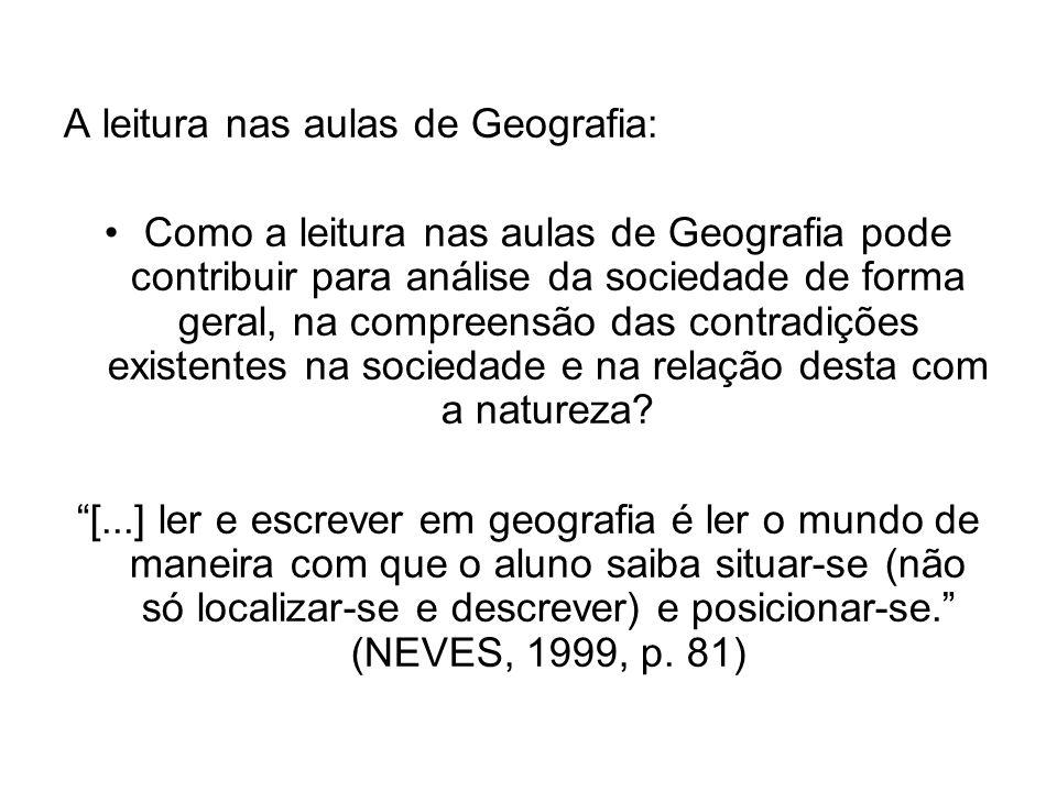 A leitura nas aulas de Geografia: