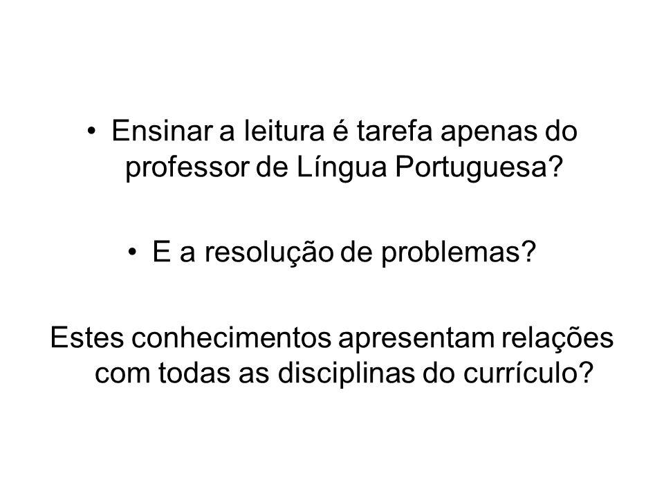 Ensinar a leitura é tarefa apenas do professor de Língua Portuguesa