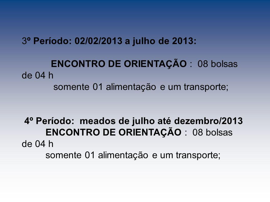 3º Período: 02/02/2013 a julho de 2013: