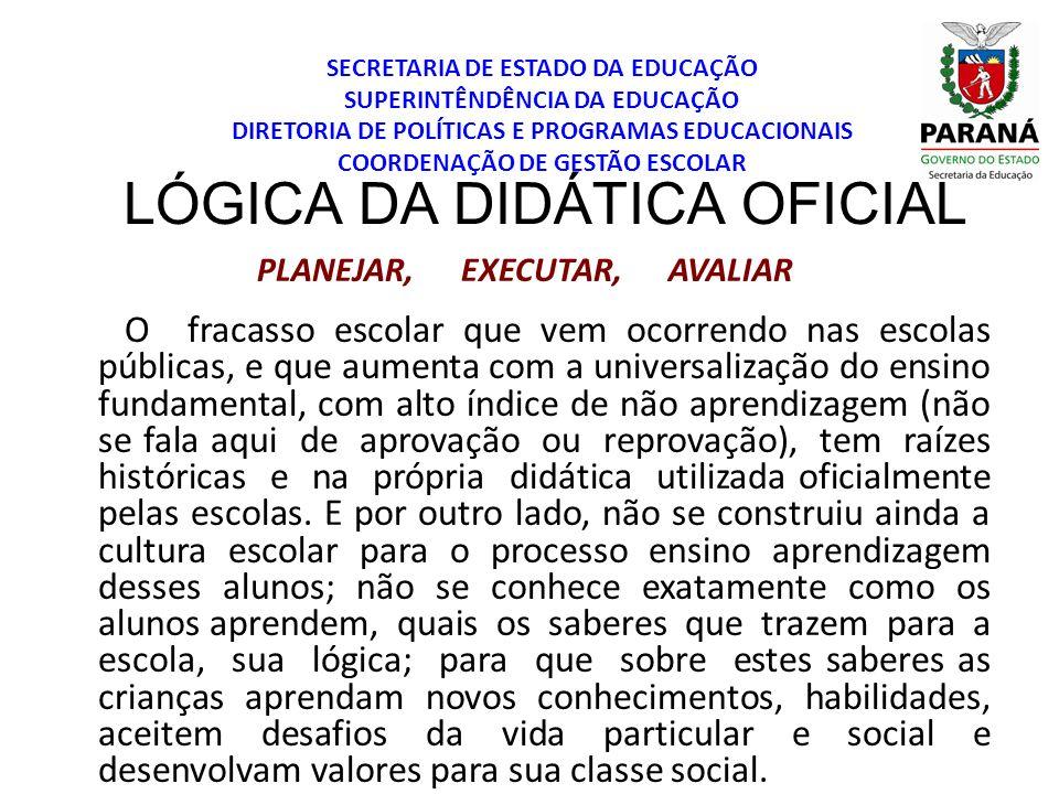 LÓGICA DA DIDÁTICA OFICIAL