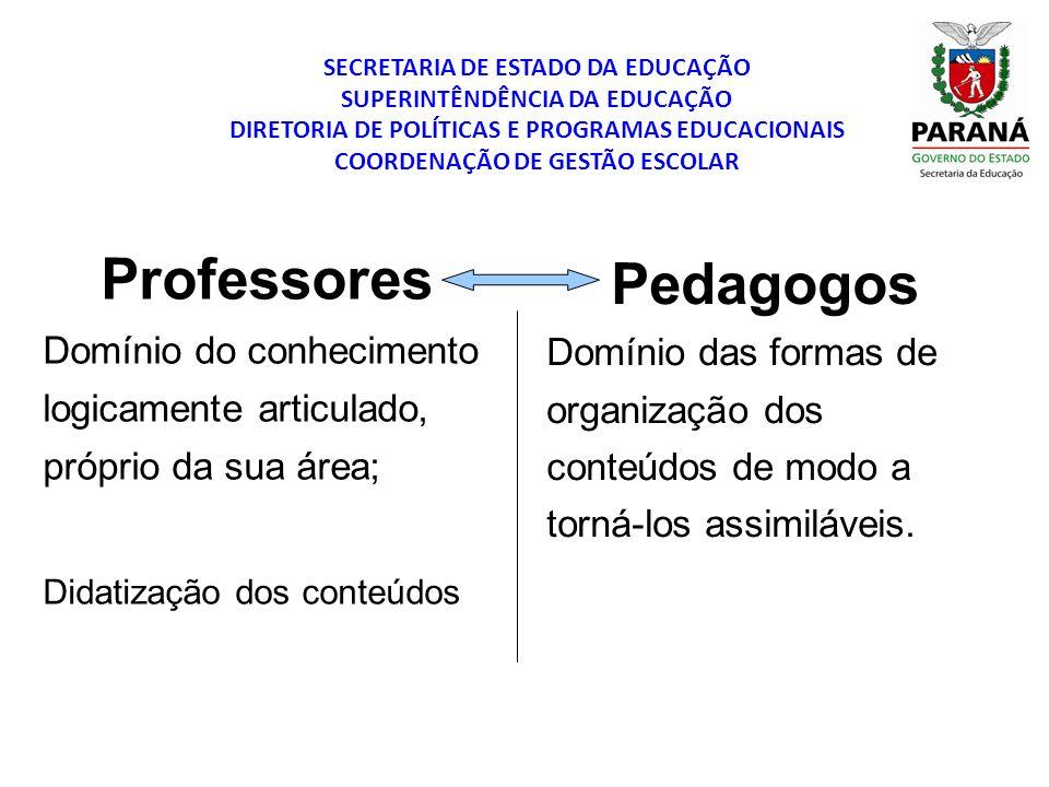 Professores Pedagogos