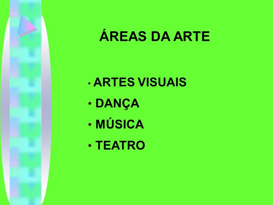 ÁREAS DA ARTE ARTES VISUAIS DANÇA MÚSICA TEATRO