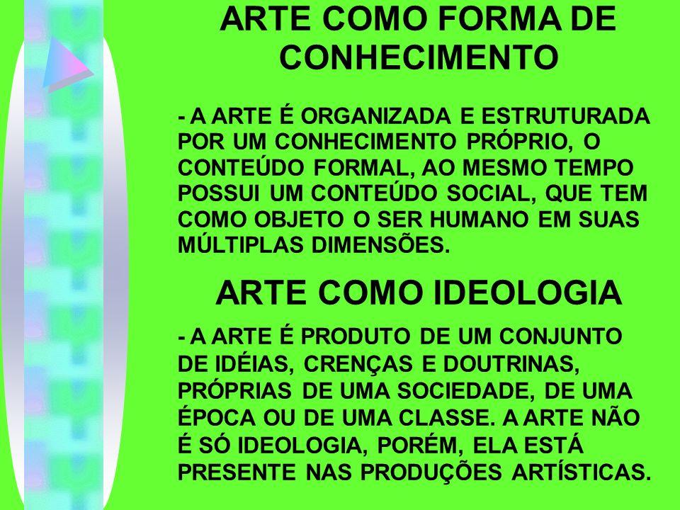 ARTE COMO FORMA DE CONHECIMENTO