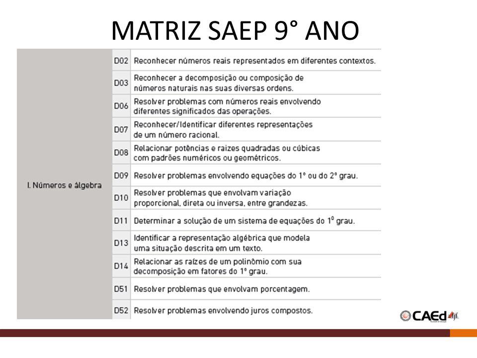 MATRIZ SAEP 9° ANO