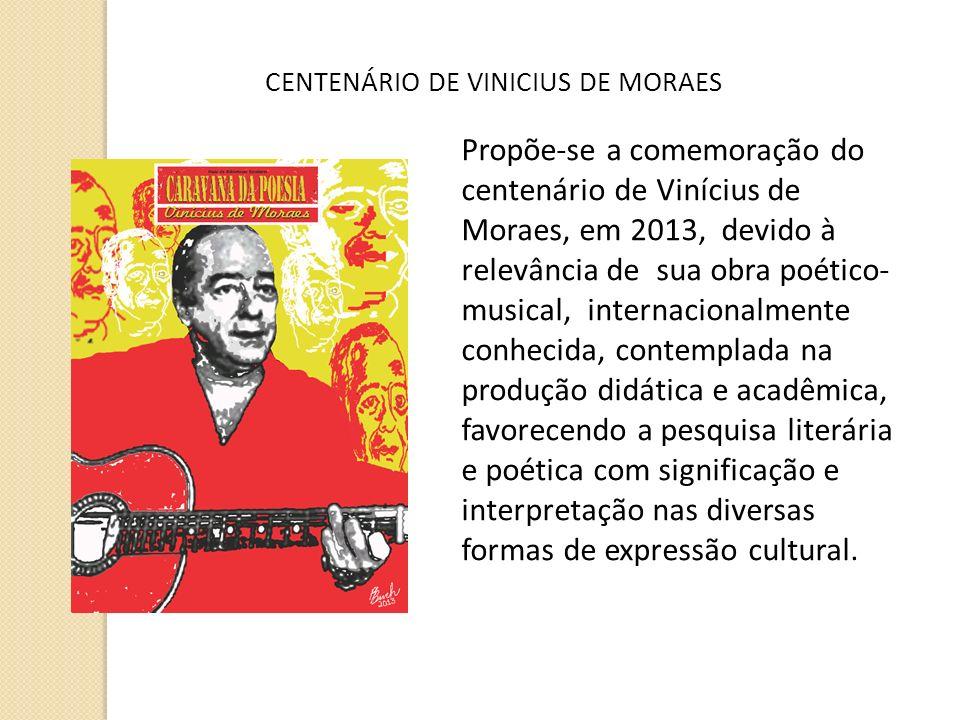 CENTENÁRIO DE VINICIUS DE MORAES
