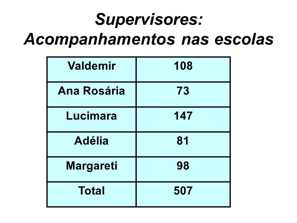 Supervisores: Acompanhamentos nas escolas