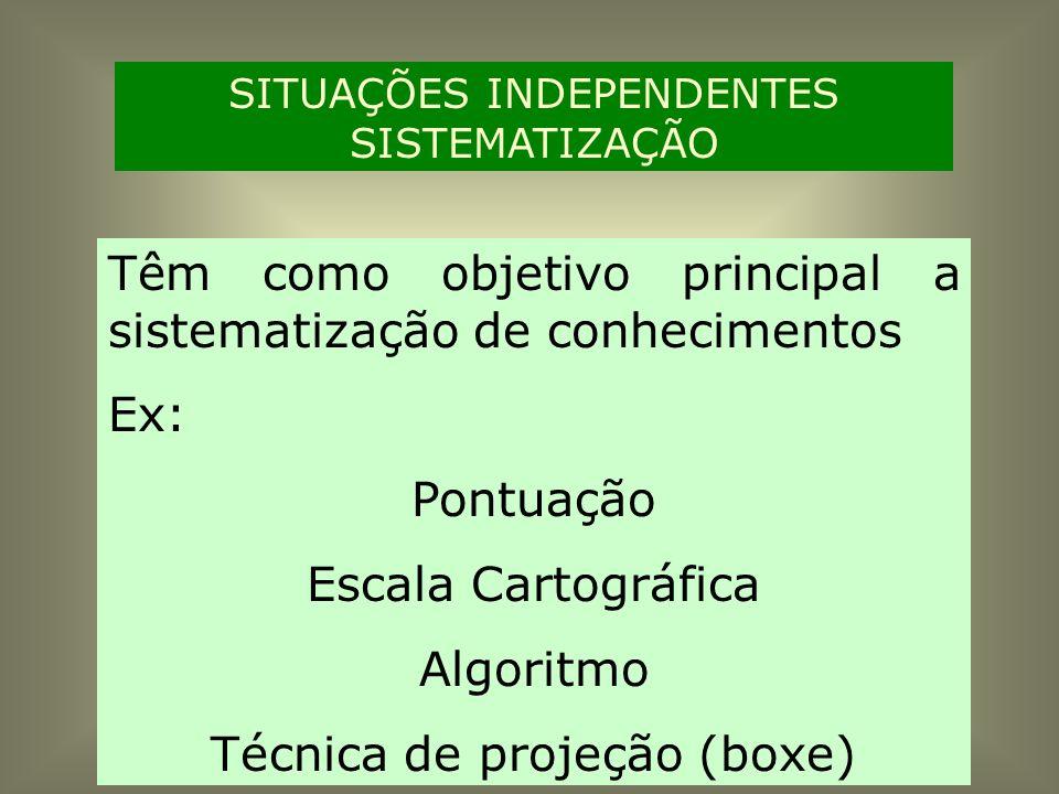 Têm como objetivo principal a sistematização de conhecimentos Ex: