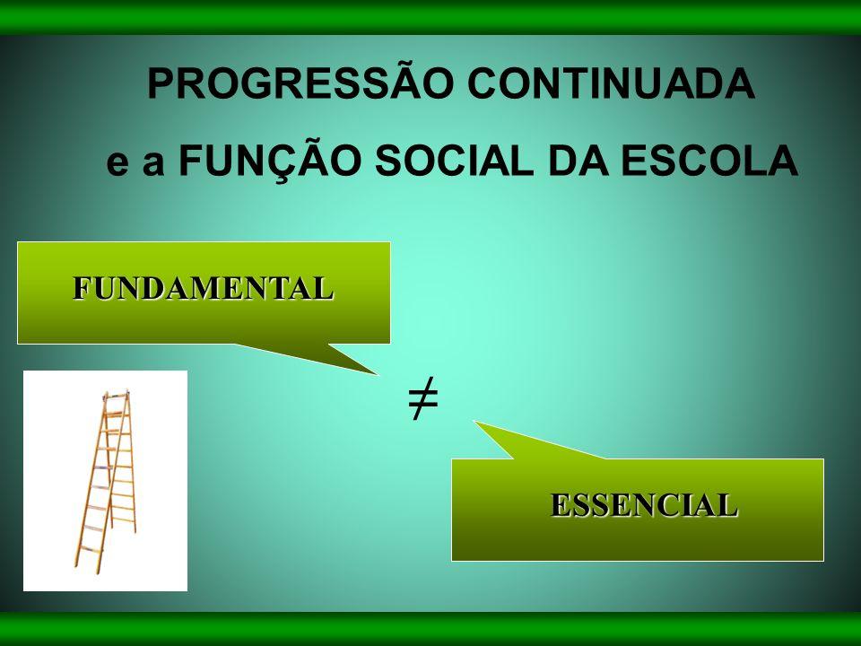 PROGRESSÃO CONTINUADA e a FUNÇÃO SOCIAL DA ESCOLA