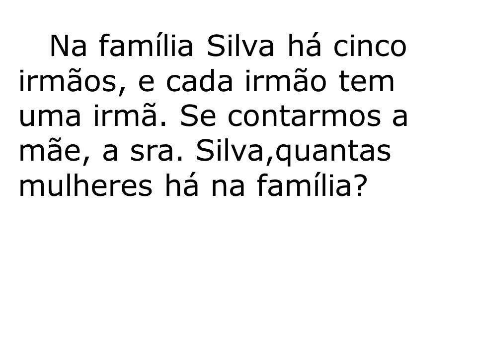 Na família Silva há cinco irmãos, e cada irmão tem uma irmã