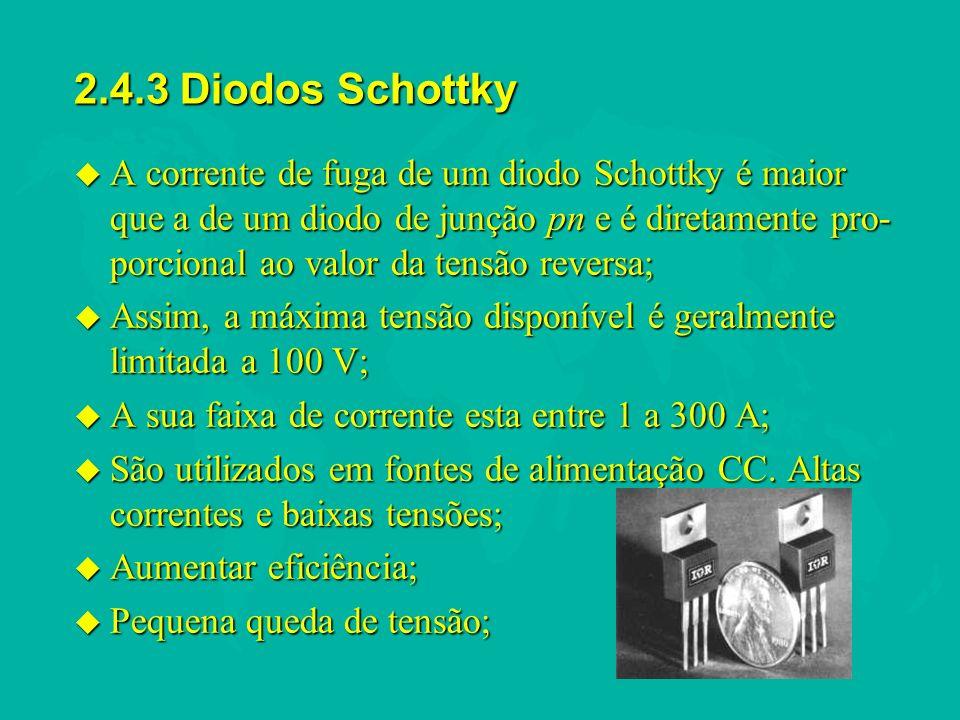 2.4.3 Diodos Schottky