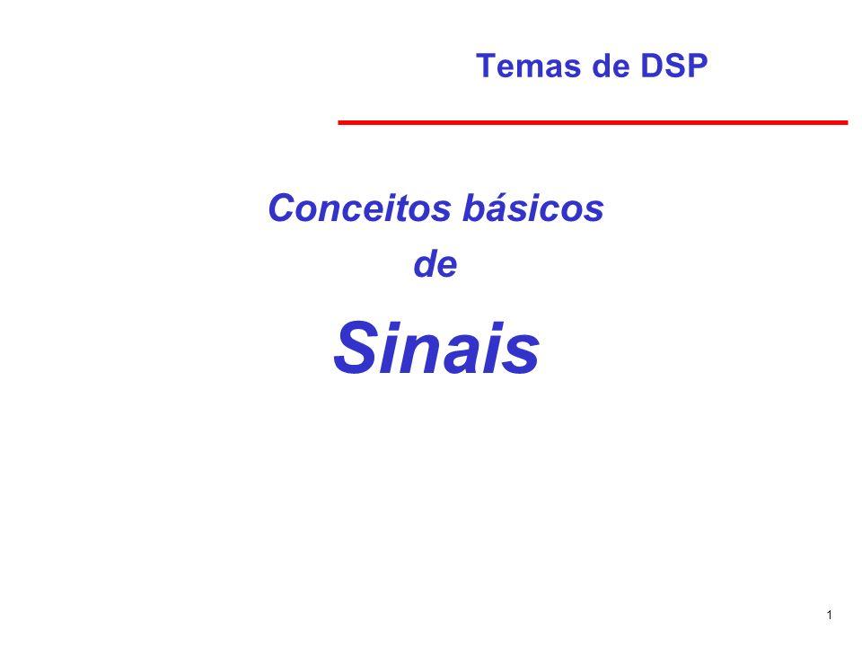 Temas de DSP Conceitos básicos de Sinais