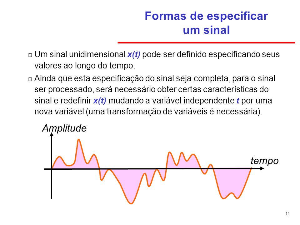 Formas de especificar um sinal