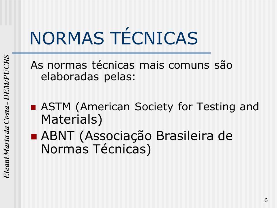 NORMAS TÉCNICAS ABNT (Associação Brasileira de Normas Técnicas)